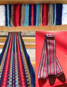 Guitar strap yarn wrap and weaving