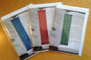 handwoven bookmarks