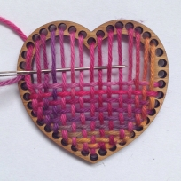 PDF Instructions for Heart Brooch/Decoration Weaving