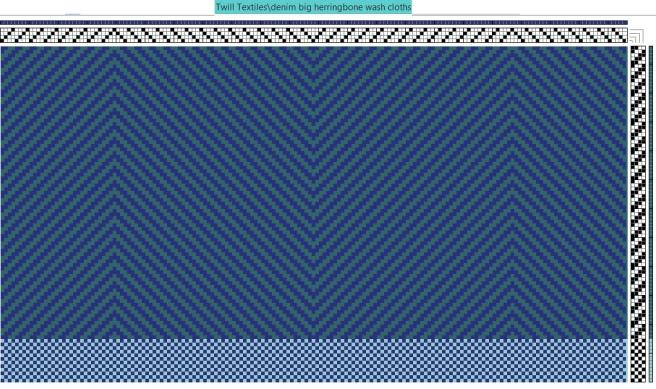 Denim blue Herringbone washcloths